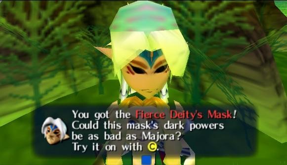 La máscara de la Fiera Deidad Majora's Mask para Nintendo 64