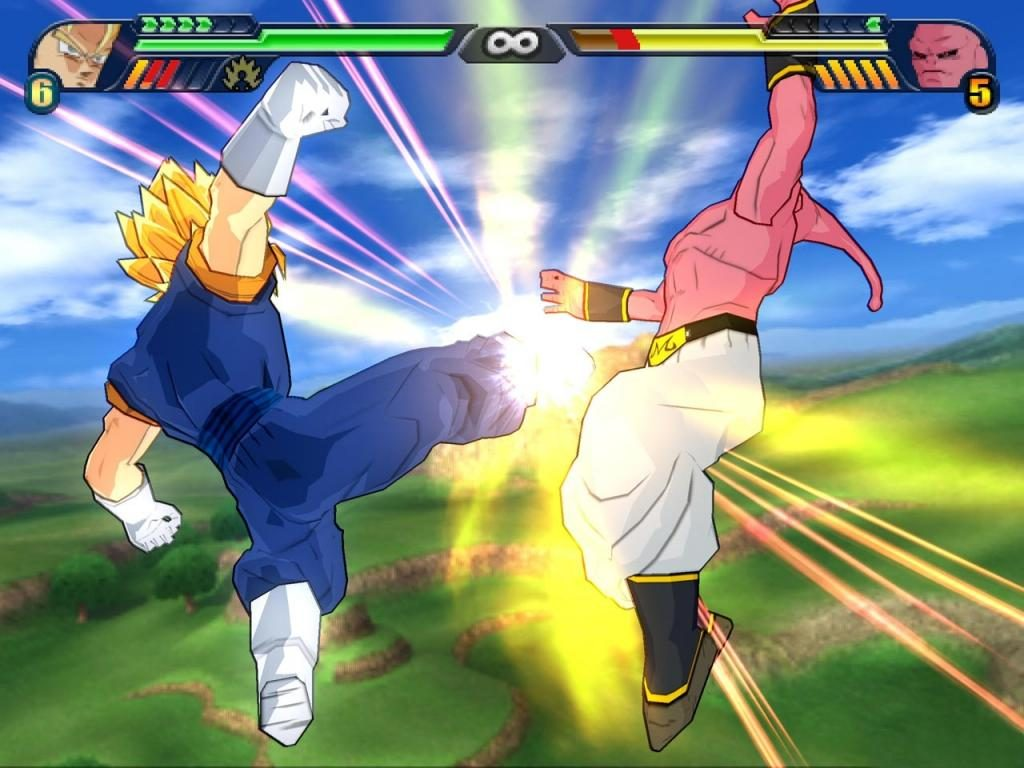 pelea de vegeto vs majin boo en Dragon Ball Z Budokai Tenkaichi 3