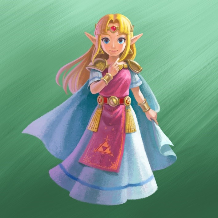 Zelda de A Link Between Worlds
