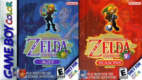 Carátula de Oracle Of Ages y Oracle Of Seasons - Juegos de Zelda para consolas portátiles