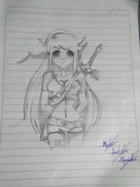 dibujo de la espada maestra
