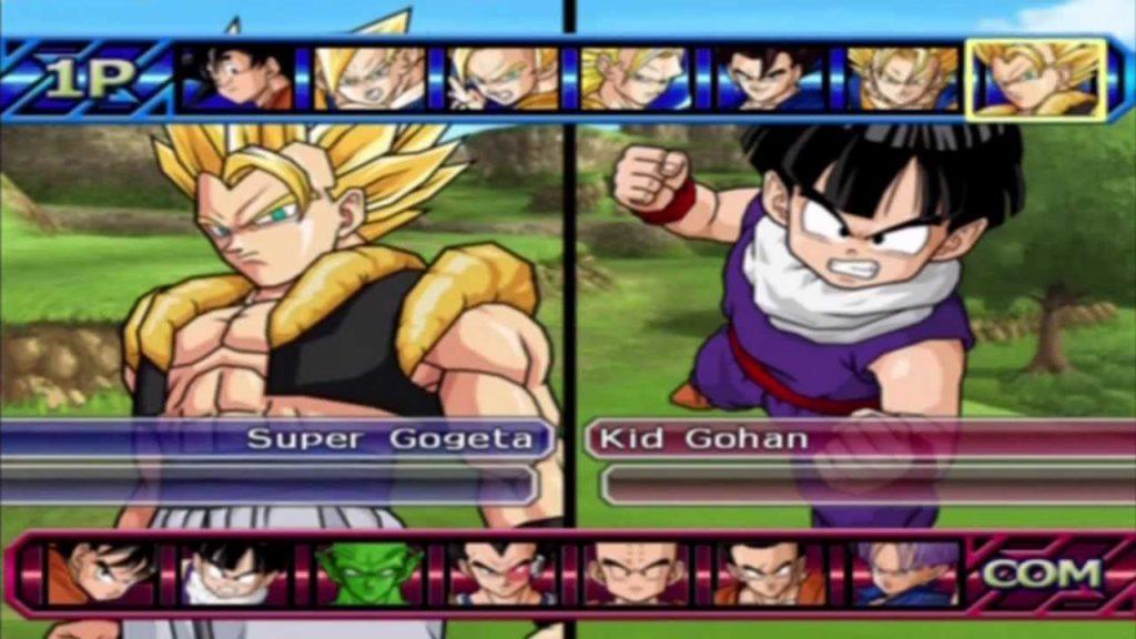 selección d e personajes de Dragon Ball Z Budokai Tenkaichi 3