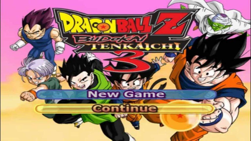 menú de Dragon Ball Z Budokai Tenkaichi 3 para play station 2