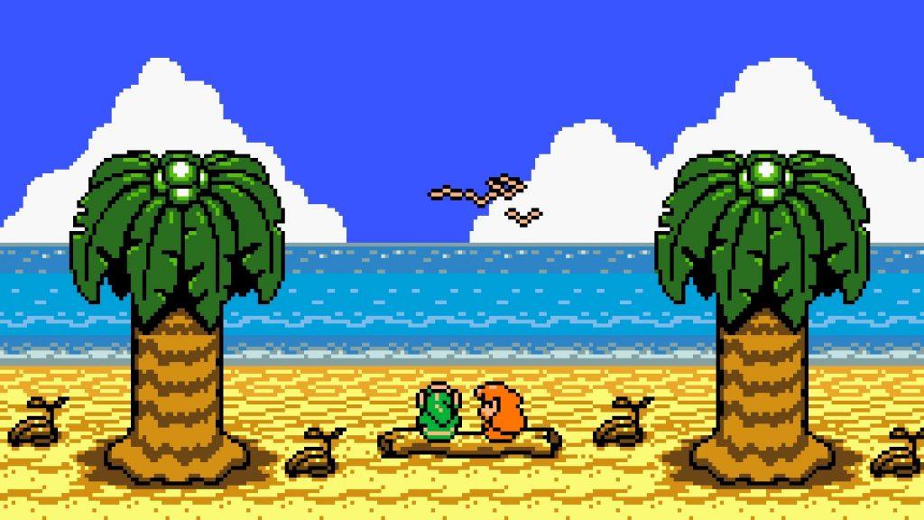 Link y Marin en Link's Awakening - Juegos de Zelda para portátiles