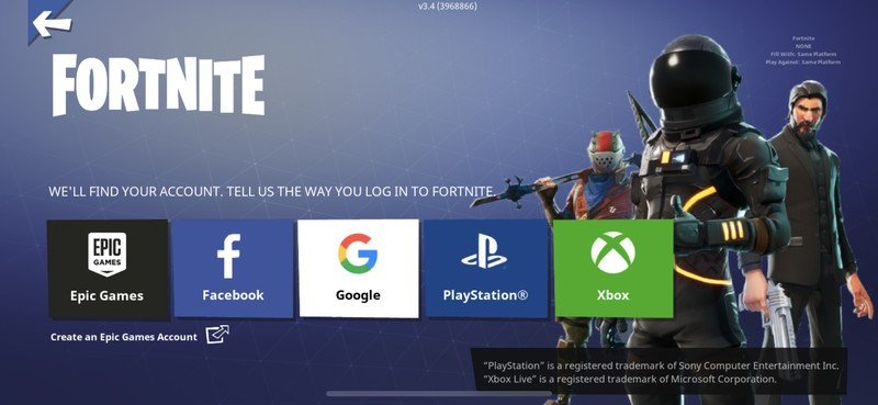 Fornite Crossplay PS4