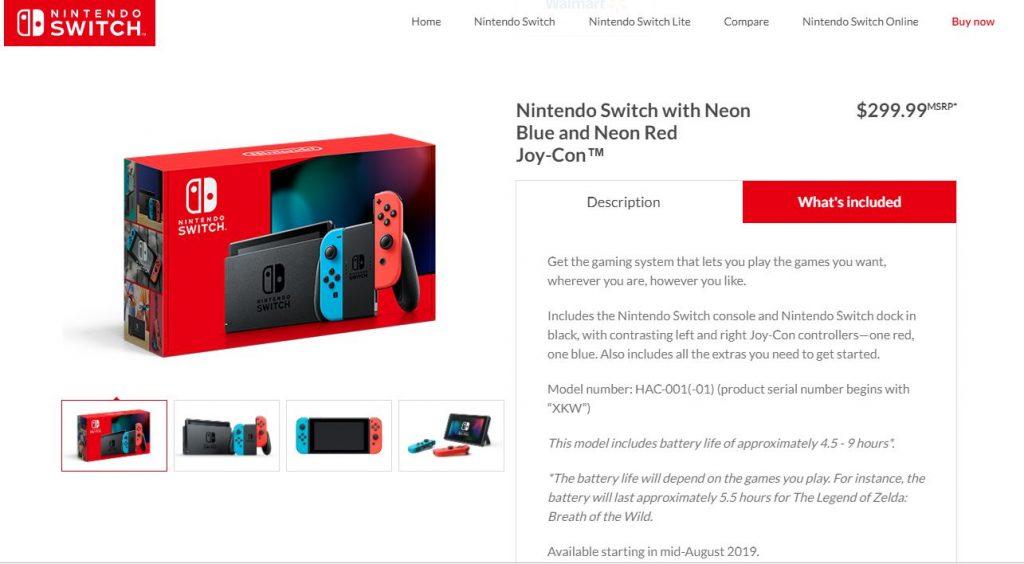 Nueva Nintendo Switch Información