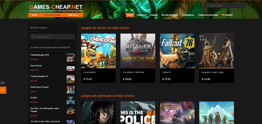 Videojuegos al mejor precio