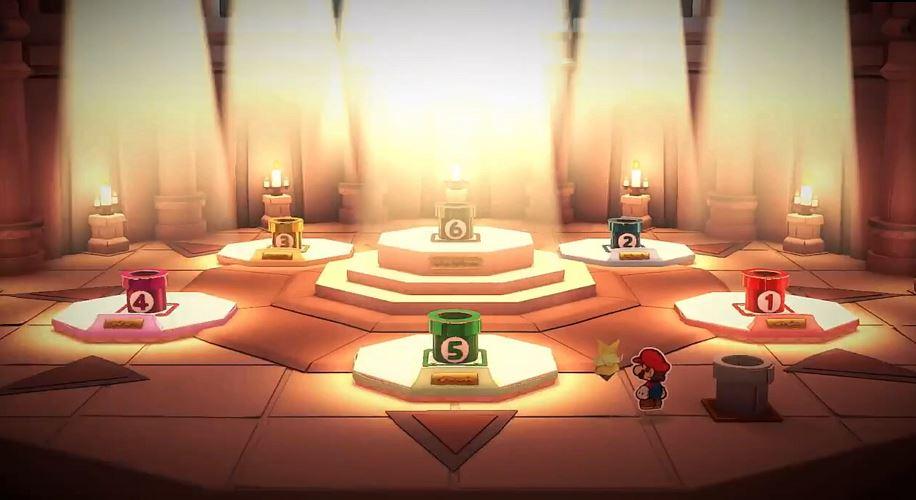 Paper Mario The Origami King Mario y Olivia